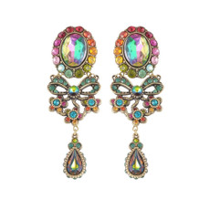 Michal Negrin Clip On My Bow Flowers Earrings