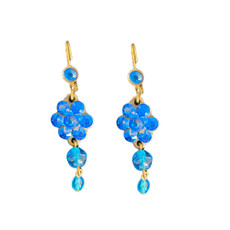 Michal Negrin Sparkle Blue Hook Earrings