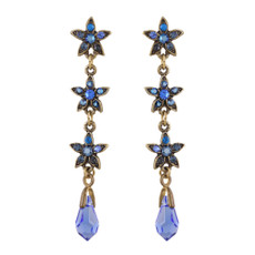 Michal Negrin Gisele Blue Star Earrings