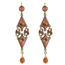 Michal Negrin pastel Roses Earrings
