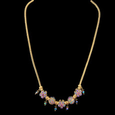 Michal Negrin Purple Charms Swarovski Crystals Necklace