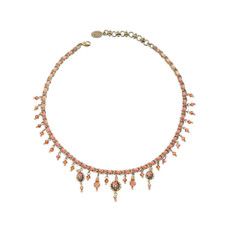 Michal Negrin Dropping Happy Tears Swarovski Crystals Necklace