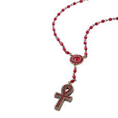 Michal Negrin Tokyo Cross Red Necklace