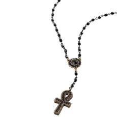 Michal Negrin Tokyo Cross Black Necklace