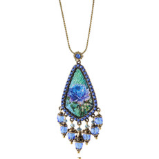 Michal Negrin Quilt Beads Swarovski Crystals Necklace