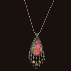 Michal Negrin Quilt Beads Black Necklace