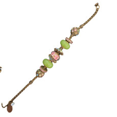 Michal Negrin Joy Charm Green Crystal Bracelet