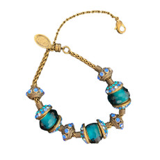 Michal Negrin Joy Charm Blue Crystal Bracelet
