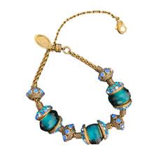 Michal Negrin Joy Charm Blue Crystal Bracelet