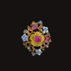 Michal Negrin Victorian Flower Power Multi Color Ring