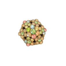 Michal Negrin Sparkling Flower Adjustable Ring