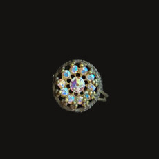 Michal Negrin Swing A Song White Swarovski Crystals Ring