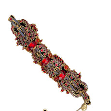 Michal Negrin Red Urban Lace Bracelet