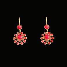 Michal Negrin Red Hot Earrings
