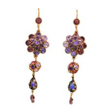 Michal Negrin Swarovski Crystals Drop Special Earring