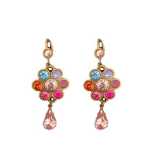 Michal Negrin Swarovski Crystals Pretty Little Things French Wire Earrings