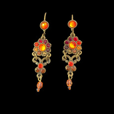 Michal Negrin Swarovski Crystals True Colors Jewelry French Wire Earrings