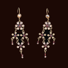 Michal Negrin Swarovski Crystals Love Adorned Jewelry French Wire Earrings