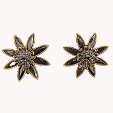 Michal Negrin The Crystal Blooms Clip On Earrings
