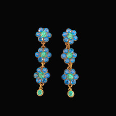 Michal Negrin Blue Sky Coral Post Earrings