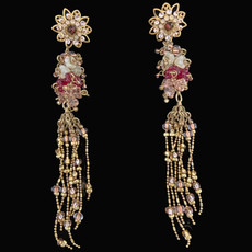 Michal Negrin Golden Crown Clip On Earrings
