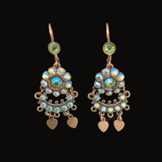 Michal Negrin French Wire Soft Blow Flower Earrings