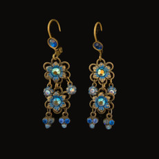 Michal Negrin Jeans Flower Earrings
