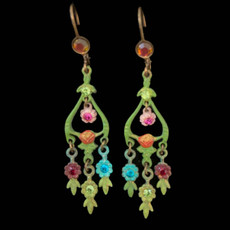 Michal Negrin Painted Flower Field Earrings
