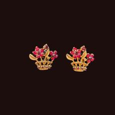 Michal Negrin Flower Crown Post Earrings