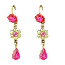 Michal Negrin Bright Bloom Flower French Wire Earrings