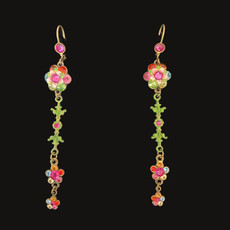 Michal Negrin Royal Bloom Multi Flower Wire Earrings