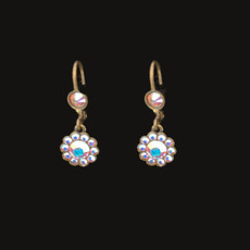 Michal Negrin Bright White Day French Wire Earrings