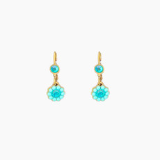 Michal Negrin Beautiful forget me French Wire Earrings