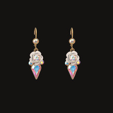 Michal Negrin Crystals Ice Flower Earrings