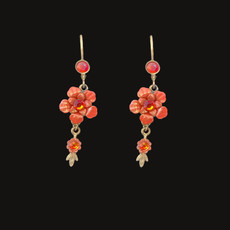 Michal Negrin Must Have Painted Flower Orange Earrings