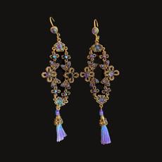 Michal Negrin Purple Rain Lace Earrings