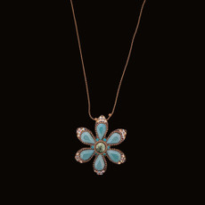 Michal Negrin Happy Flower Turquoise Crystals Necklace