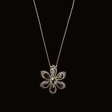 Michal Negrin Happy Flower Black Crystals Necklace