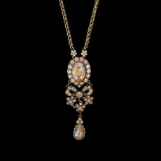 Michal Negrin Bedazzled Bow Swarovski Crystal Necklace