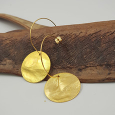 Anat Inner Circle Gold Earrings Small