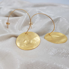 Anat Inner Circle Gold Earrings Large