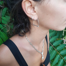 Anat Shooting for Silver Earrings