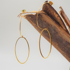 Anat Come Down Gold Earrings