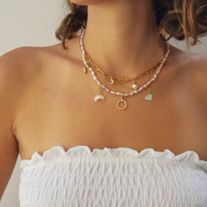 Anat Double Cross Necklace