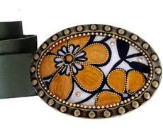 Iris Designs Night Flower Belt Buckle