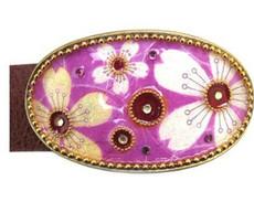 Iris Designs Lavender Call Belt Buckle