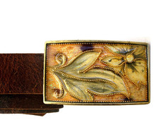 Iris Designs Kings Flower Belt Buckle
