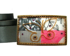 Iris Designs Butterfly Eye Belt Buckle