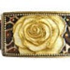 Iris Designs Redefined Rose Belt Buckle