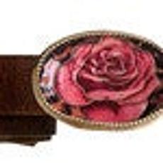 Iris Designs Rose Quilt Belt Buckle